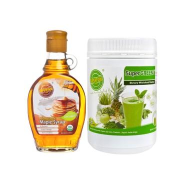 SUPERFOOD LAB - Set supergreen Ph 7 3 Advanced Formula Organic Pure Maple Syrup - SET