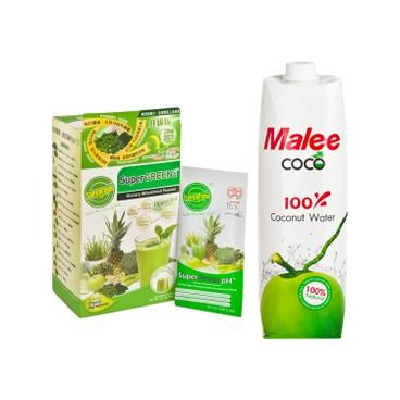 士多滋味 - 套裝-超級蔬果鹼性綠粉椰子飲 - SET