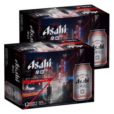 ASAHI朝日 啤酒-原箱 330MLX12X2