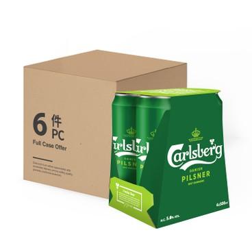 嘉士伯 - 啤酒 (巨罐裝)-原箱 - 500MLX4X6