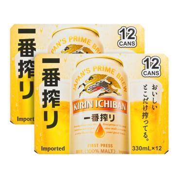 麒麟 - 一番搾啤酒-原箱 - 330MLX12X2