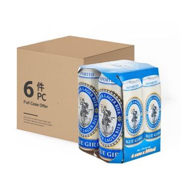BLUE GIRL - Beer King Can full Case - 500MLX4X6
