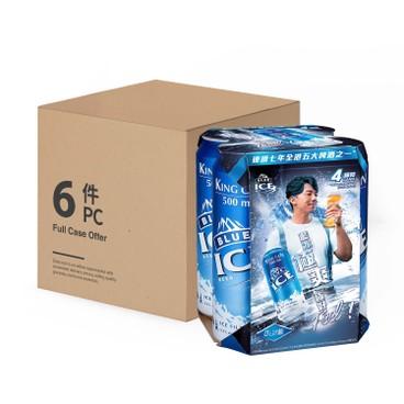藍冰 - 啤酒 (巨罐裝)-原箱 - 500MLX4X6