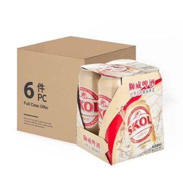 SKOL獅威 - 啤酒 (巨罐裝)-原箱 - 500MLX4X6