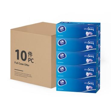 維達 - 三層超韌盒裝面紙(P助與粉紅兔兔期間限定版)(原箱) - 5'SX10