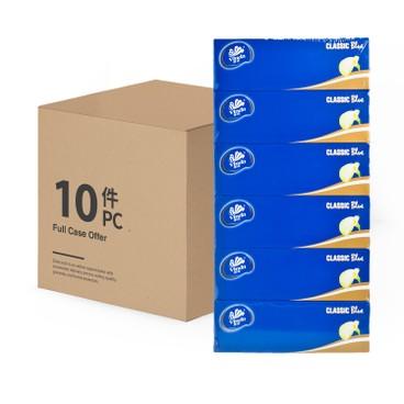 維達 - 藍色經典盒裝面紙(原箱) - 6'SX10