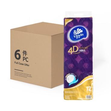 維達 - 4D DELUXE 4層立體壓花衛生紙 - 12'SX6