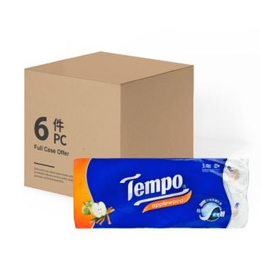 TEMPO - Bathroom Tissue 3 Ply applewood - 10'SX6