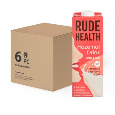 RUDE HEALTH (PARALLEL IMPORT) - Organic Hazelnut Drink - 1LX6