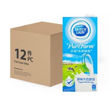 子母 - 天然純牧原味牛奶飲品-原箱 - 946MLX12
