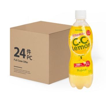 三得利 - C.C. LEMON 有氣檸檬味飲品-原箱 - 500MLX24