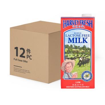 澳洲哈維 - 無乳糖牛奶-原箱 - 1LX12