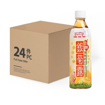 HUNG FOOK TONG - Chrysanthemum With Honey Drink low Sugar case Offer - 500MLX24