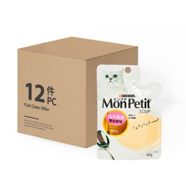 MON PETIT - 白汁純湯 - 雙魚鮮味 - 原箱 - 40GX12