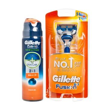 吉列 - FUSION 5+1刮鬍刀套裝 - SET
