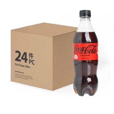 可口可樂 - 零系汽水 -原箱 - 500MLX24