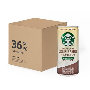 STARBUCKS - Double Shot Espresso Cream Full Case - 200MLX36
