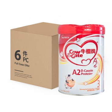 COW & GATE - A 2 Β Casein Protein Growing Up Formula 3 Case - 900GX6