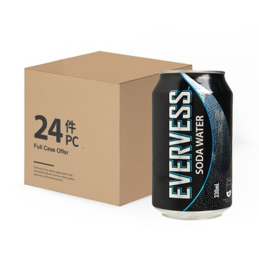 EVERVESS - Soda Water Case - 330MLX24