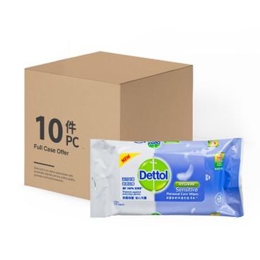DETTOL - Sensitive Anti Bacterial Wet Wipes - 10'SX10