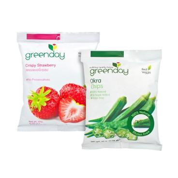 GREENDAY - Set okra Chips Crispy Strawberry - SET