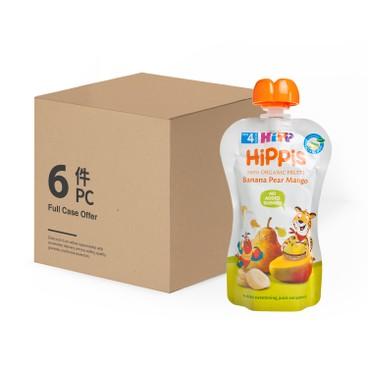 HIPP - Organic Banana Pear Mango Case - 100GX6
