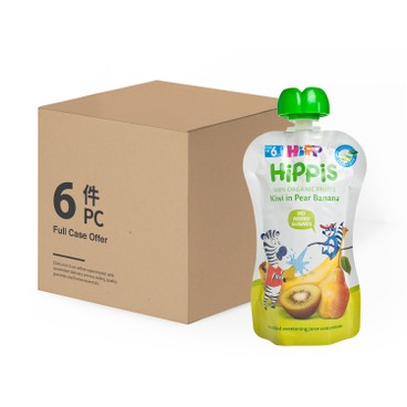 HIPP - Organic Kiwi In Pear banana Case - 100GX6
