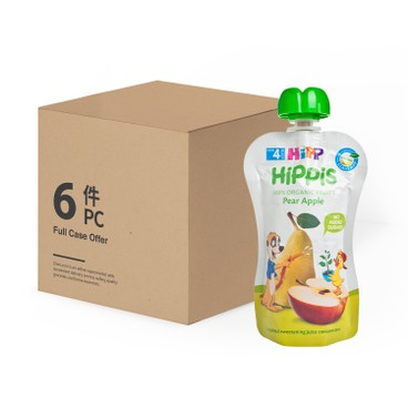 HIPP - Organic Pear Apple Case - 100GX6