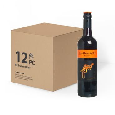 黃尾袋鼠 - 紅酒-梅洛-原箱 - 750MLX12