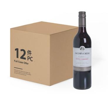 JACOB'S CREEK傑卡斯(平行進口) - 經典切拉子赤霞珠紅酒-原箱 - 750MLX12