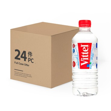 VITTEL - Natural Mineral Water Small Bottle Case - 500MLX24
