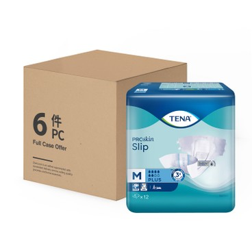 TENA - Slip Plus Medium case Offer - 12'SX6