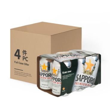 SAPPORO 七寶札幌 - 啤酒-原箱 - 330MLX6X4