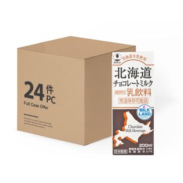 北海道 - 朱古力奶-原箱 - 200MLX24