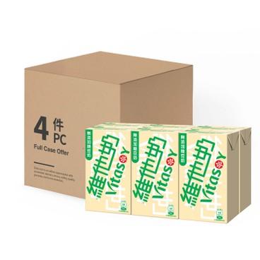 VITASOY - Soya Bean Milk unsweetened case - 250MLX6X4