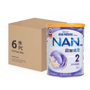 NESTLE - Nan Pro Milk Formula 2 Case - 800GX6