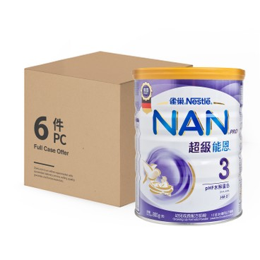 NESTLE - Nan Pro Milk Formula 3 Case - 800GX6
