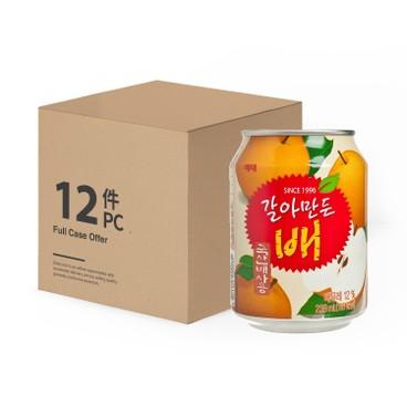海太 - 韓國果肉梨子汁-原箱 - 238MLX12