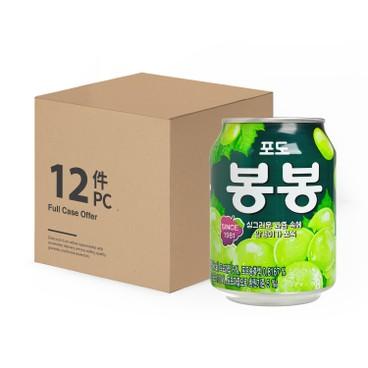 海太 - 韓國果肉葡萄汁 -原箱 - 238MLX12