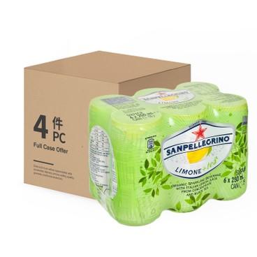 SAN PELLEGRINO - Sparkling Tea lemon case - 250MLX6X4
