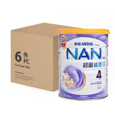 NESTLE - Nan Pro Milk Formula 4 Case - 800GX6