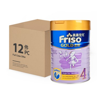 FRISO - Gold Stage 4 Milk Powder Case - 900GX12