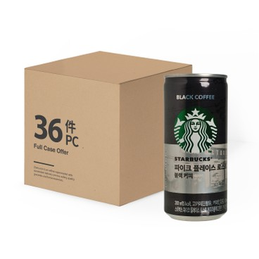STARBUCKS - Pike Place Roast Black Coffee case - 200MLX36