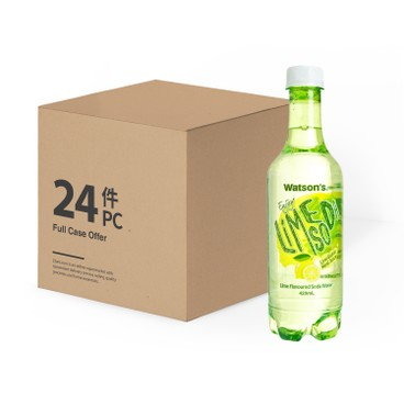 WATSONS - Soda Water lime Flavoured case - 420MLX24