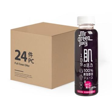 菓蔬先生 - 100% 紫甘藍紅菜頭紅葡萄混合果蔬汁-原箱 - 300MLX24