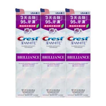 CREST - 3D閃亮白專業美白牙膏-薄荷套裝 - 116GX3