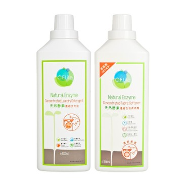 CF LIFE BY CHOI FUNG HONG - Natural Enzyme Deep Cleansing Concentrated Laundry Detergent Discounted Bundle Set - SET