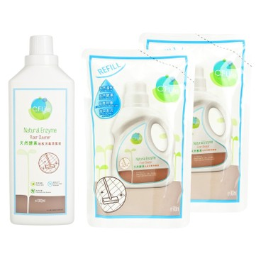 CF LIFE BY CHOI FUNG HONG - Natural Enzyme Floor Cleaner 1 2 Bundle Set - SET