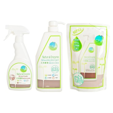 CF LIFE BY CHOI FUNG HONG - Natural Enzyme Kitchen Detergent Discounted Bundle Set - SET