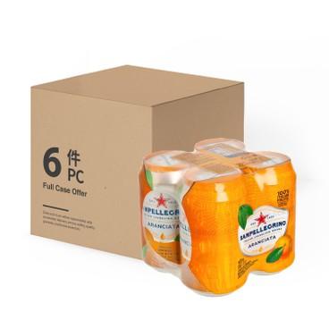 聖沛黎洛 - 有氣橙菓汁-原箱 - 330MLX4X6